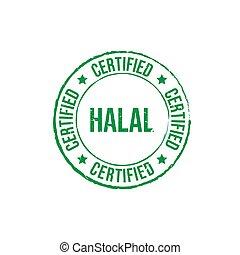 Halal certified grunge round vintage rubber stamp vector image