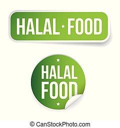 Halal Food label sign