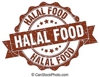halal food stamp. sign. seal