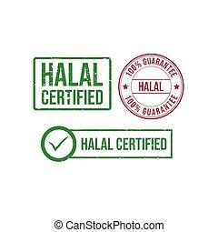 Halal grunge rubber stamp design vector