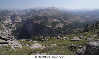halbe kuppel, landschaftlich, punkt, yosemite, nationalpark,...