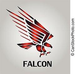 halcón, icon., falcon., hawk., eaglle.