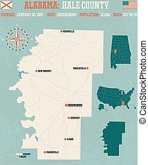 Hale County in Alabama USA