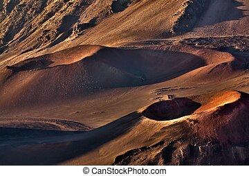 Haleakala Crater - HDR image of the inside of haleakala...