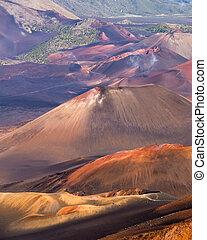 Haleakala crater - Photograph of Haleakala volcano crater.