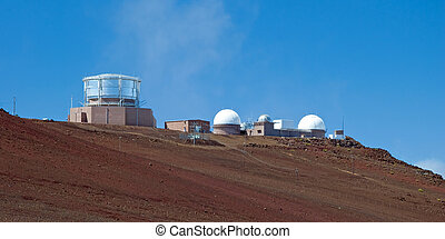 Haleakala Observatory in Haleakala National Park on Maui...