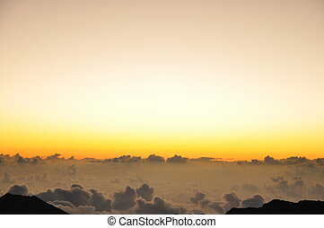 haleakala, sonnenaufgang, in, hawaii