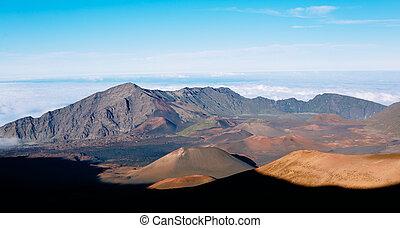 Haleakala Volcano Crater in Haleakala National Park, Hawaii