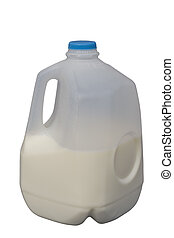 Half Full Milk Bottle, isolated, clipping path included