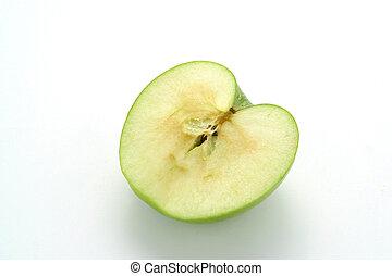 Half a green apple