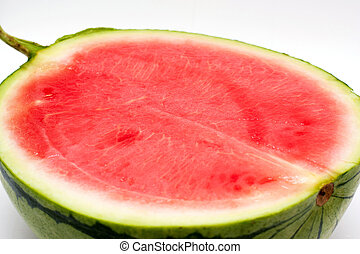 Half a watermelon isolated on white