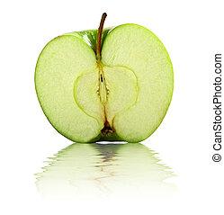 half apple background