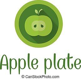 Half apple icon