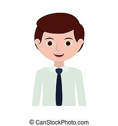 half body man with formal shirt