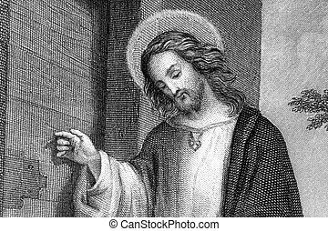 Jesus Christ - Half body portrait of Jesus Christ from 19th...