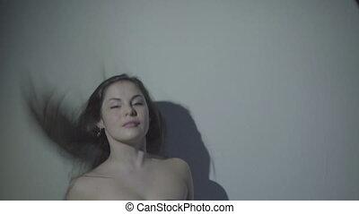 Half body shot of sexy woman