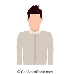 half body silhouette man with jacket