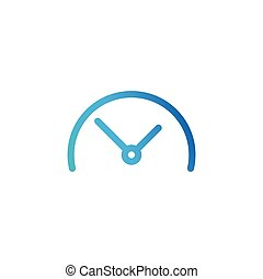 Half Clock, linear icon. Vector illustration isolated on white background.