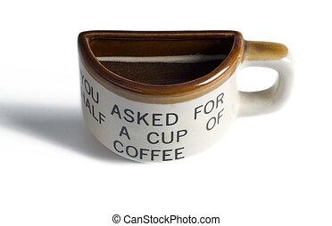 half cup of coffee