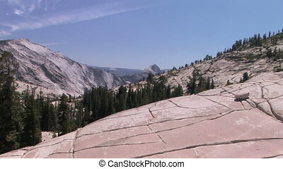 Half Dome - Zooming into Half Dome from Olmsted Point at...
