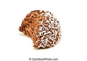 Half eaten chocolate ball - A half eaten chocolate ball...