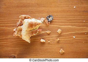 Half eaten sandwich sub
