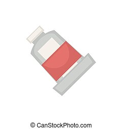 Half filled tube - Vector illustration of blank half filled...