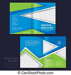 half-fold, テンプレート, パンフレット, 広告, 概念