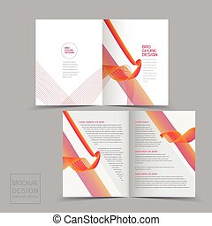 half-fold brochure design templates with dynamic wave