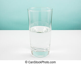 Half full glass of water