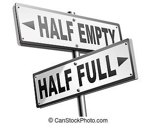 half full or empty glass - half full or empty think positive...