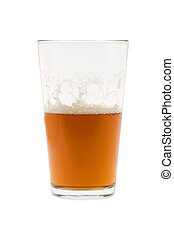 Half glass of beer, ale or lager - Pint of beer, ale, lager...