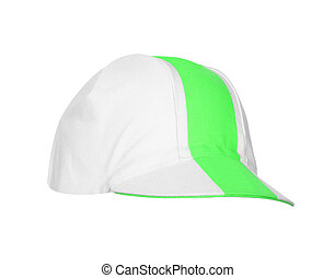 Half Green baseball cap isolated on a white background
