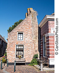Half house in the historic town of Elburg