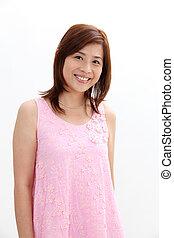 mature woman smiling