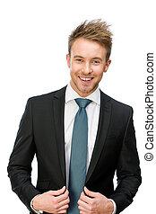 Half-length portrait of business man