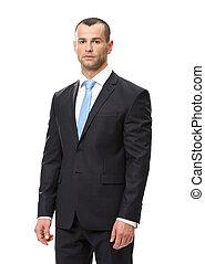 Half-length portrait of executive - Half-length portrait of...