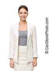 Half-length portrait of female businessman - Half-length...