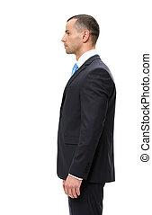 Half-length profile of business man