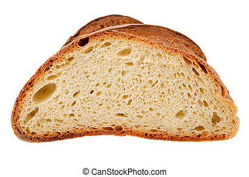 half loaf isolated on white