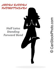 Half Lotus Standing Forward Bend