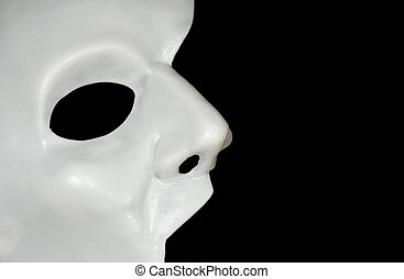 Half Mask - Photo of a Half WHite Mask - Phantom of the...