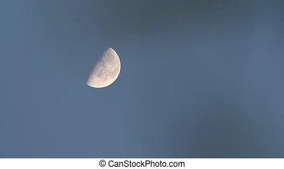 Half Moon and Blue sky