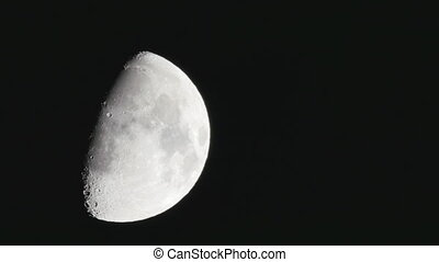 Half moon soon seen after sunset(no CG, no time lapse)