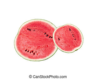Half of watermelon isolated on the white background