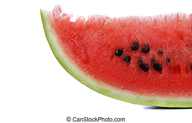 Half of watermelon slice