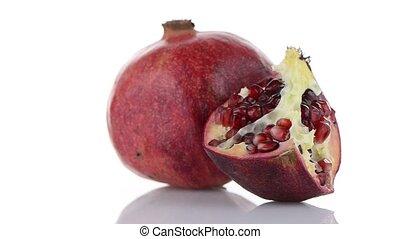 Half pomegranate fruit