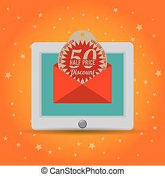 half price discount online marketing