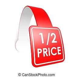 Half price hang label