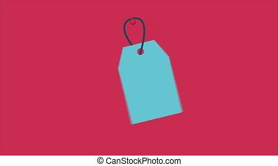 Half Price label - Half Price blue label Video Animation, HD...